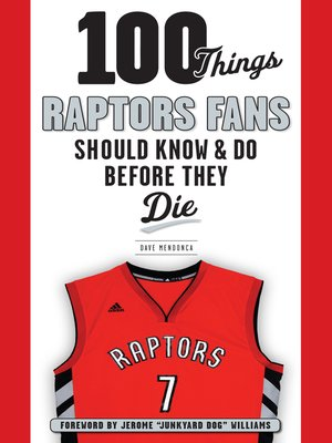 cover image of 100 Things Raptors Fans Should Know & Do Before They Die